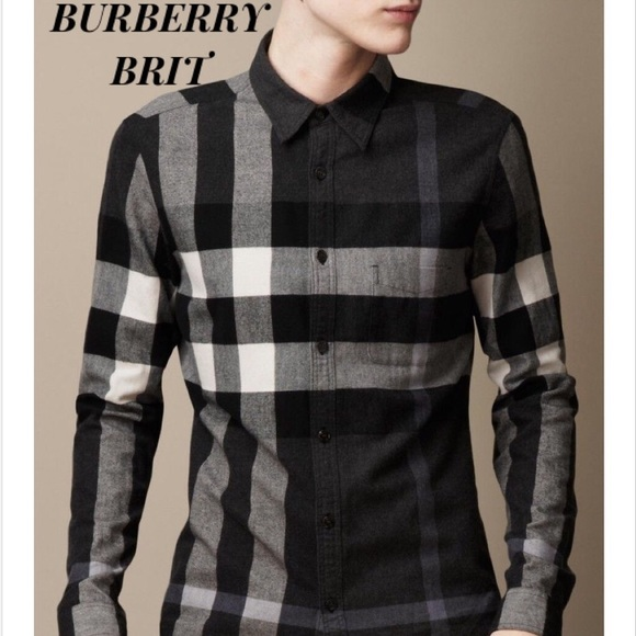 04404c287 Burberry Shirts | Brit Exploded Check Button Down Shirt | Poshmark